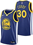 nba jersey kids - Nike Stephen Curry Golden State Warriors NBA Youth 8-20 Royal Blue Road Icon Edition Swingman Jersey (Youth Large 14-16)