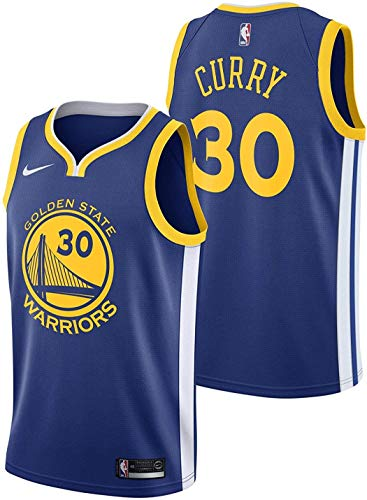 Nike Stephen Curry Golden State Warriors NBA Youth 8-20 Royal Blue Road Icon Edition Swingman Jersey (Youth Medium 18-20)