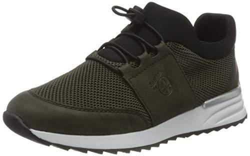 Rieker Damen N8078 Sneaker, grün/green/schwarz 54, 38 EU