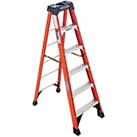 Werner 6 Ft Fiberglass Step Ladder with 300 Lbs Load Capacity