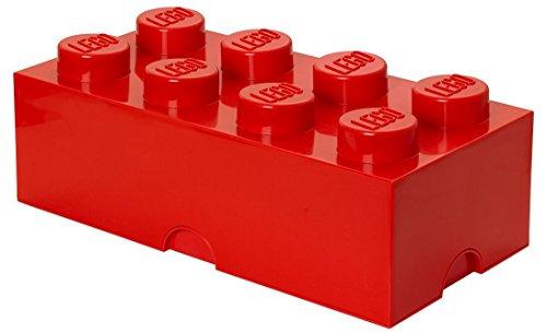 Room Copenhagen Lego-Caja de almacenaje, Rojo Brillante, L