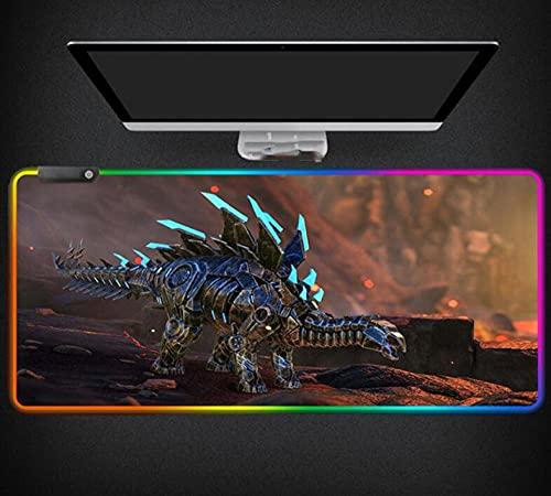 Mauspads Ark Survival Evolved Mauspad Bunte Luminous RGB Gaming Gamer XXL Computerspiel Schreibtisch Play Pad Für Cs Go 700X300X4Mm