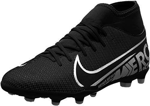 Nike Jr Superfly 7 Club FG/MG, Zapatillas de Fútbol Unisex Niños, Multicolor (Black/Mtlc Cool Grey/Cool Grey 001), 38 EU