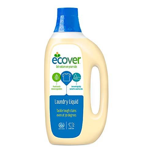 エコベール 洗濯洗剤 液体 本体 (無酵素・無蛍光増白剤・無着色) ラベンダーの香り 1500ml
