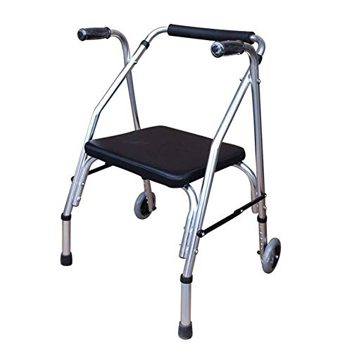 LXDDJZXQ Andador para Ancianos Walker, Ligero, portátil, Plegable, portátil, Caminante, Anciano, Caminante, con Ruedas, desactivado, asistido, Caminante, conducción, médico