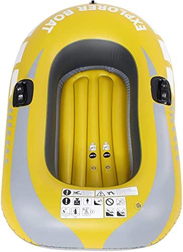 WEUN Kayak Inflable 1 Persona, Suficientemente Inflable Bote Inflable con Dos montajes de Paleta y diseño de válvulas Doble para la navegación Flotante y Otras Actividades transmitidas por el Agua