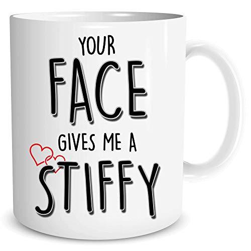 Divertida taza de café para novia, esposa, regalo de cumpleaños Gay Lgbt Taza de té para tu cara regalo de cumpleaños para los amantes de la profanidad Día de San Valentín Regalo de Navidad WSDMUG1691