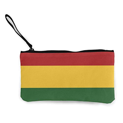 Zip Wallet, Rasta Flag Wallet muntgeldbeurs canvas indrukwekkende clutch tassen voor Party Shopping Walking,22(L) x12(W) cm