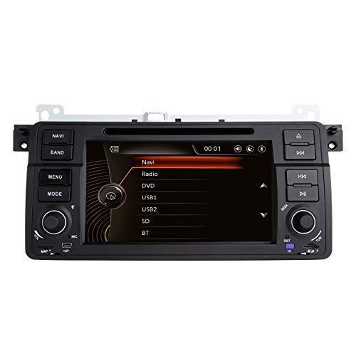 N / A BOOYES para BMW E46 Rover 75 MG ZT 7'Reproductor de DVD para Coche Radio Estéreo Sistema GPS Reproductor Multimedia para Coche con cámara de visión Trasera Tarjeta de Mapa