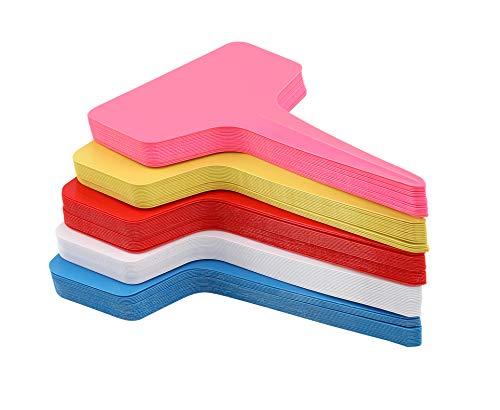 KINGLAKE 100Stk. Mini T-Form Plastik Pflanzenstecker Stecketiketten Beschriften Pflanzschilder Schilder 6CM * 10CM Sind Praktisch für AlleGärtner (Multi)