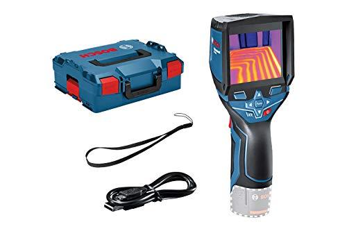 Bosch Professional 12V System Wärmebildkamera GTC 400 C (Ohne Akku und Ladegerät, mit App-Funktion, Temperaturbereich: –10 °C bis +400 °C, Auflösung: 160 x 120 Pixel, in L-Boxx)