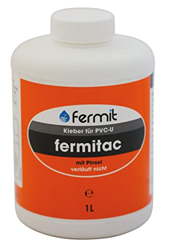 Kleber Flasche m. Pinsel für PVC-U ohne THF für Druck- und Abflußsysteme (125 ml)