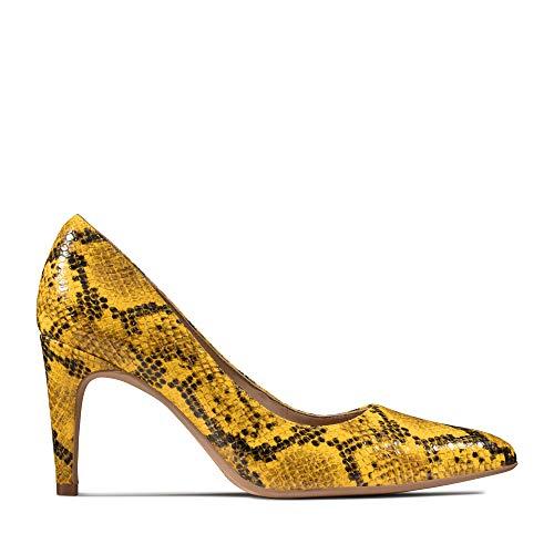 Clarks Damen Laina Rae Pumps, Gelb (Yellow Snake Yellow Snake), 39 EU
