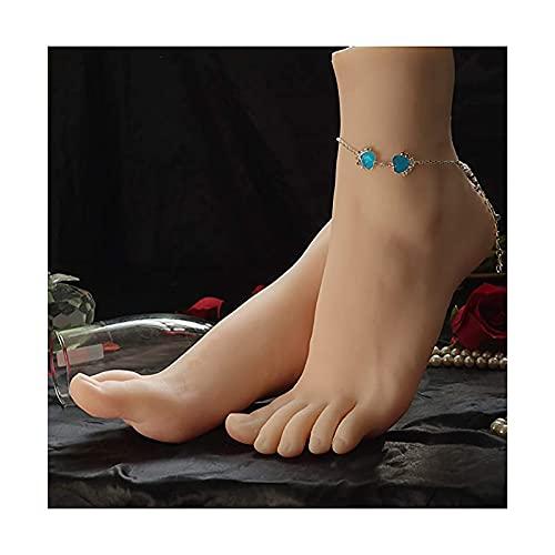 GSYNXYYA Silikonfußmodell, 23Cm Echte Person Form Realistische Gefälschte Füße, EIN Paar TPE-Modell-Fetisch-Frauenfüße (Hautton),One Pair