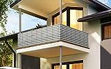 Toctax Sichtschutz Balkon Balkon sichtschutz balkonverkleidung 50x900cm, Balkon sichtschutz Ideen Wind- und UV-Schutz Wetterbeständiges und Pflegeleichtes, für Gartenzaun Balkonzaun (Grau)