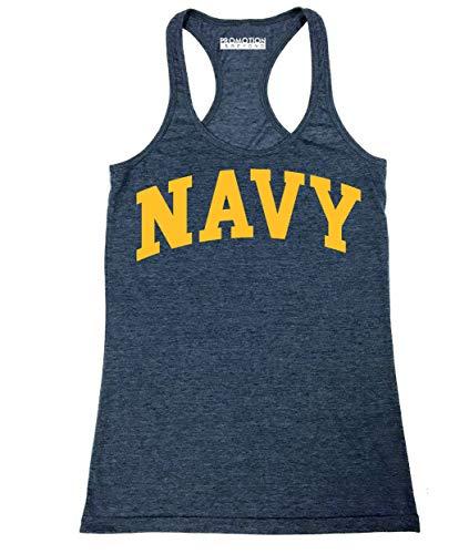 Military Gear Navy Training PT Women's Junior Fit Tank Top, S, H. Navy