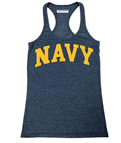 Military Gear Navy Training PT Women's Junior Fit Tank Top, S, H. Navy