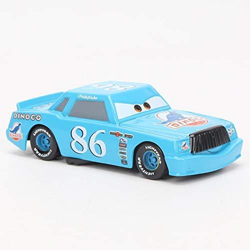Desconocido Disney Disney Pixar Cars 3 Toy Lightning Mcqueen Mater Storm Jackson Ramirez 1:55 Diecast Metal Alloy Model Car Toys Gift for Boys NO 86 Blue