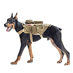 Top Notch Quality: 1000D Nylon construction for durability and dirt/water/abrasion resistance; One loop panel on top of harness for attaches DO NOT PET patch, ASK TO PET patch, blood type patches, name patches or morale patches etc Patrol Harness Ves...