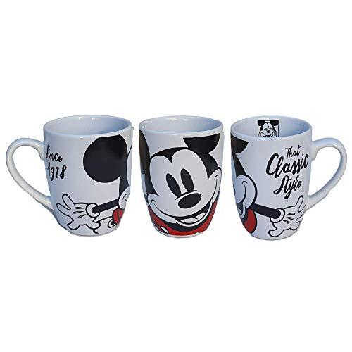 CARTOON GROUP Taza Mug Mickey Mouse Disney Mickey Mouse cerámica cónica 340 ml con paquete – WD21445/2