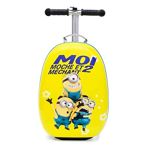 Mdsfe kids scooter suitcase carry on skateboard lazy trolley luggage bag for children - 4