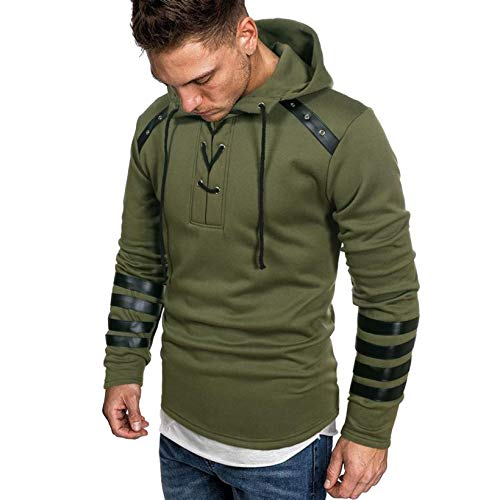 Sweat-Shirt à Capuche pour Hommes, Mens'Automne Hiver à Manches Longues, Veste De Sweatshirt Capuche Top Blouse Survêtement