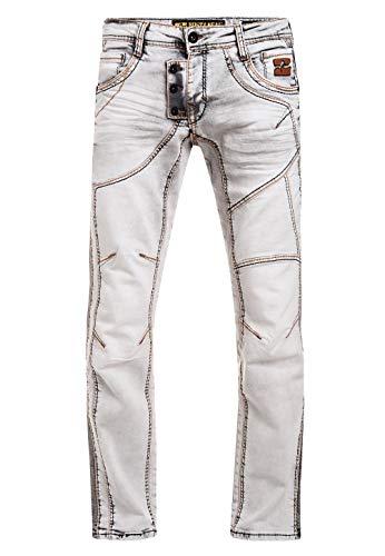 Herren Jeans Rusty Neal Jeanshose 'Ruben' Regular Fit 'DIE ETWAS ANDERE Jeans' Stretch Denim, Hosengröße:33/32, 8442:12222-2