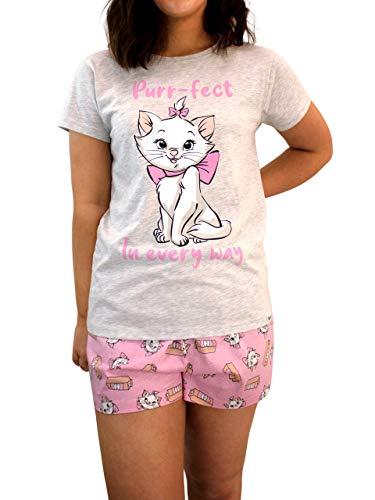 Disney Pijamas para Mujer Los Aristogatos Gris Medium