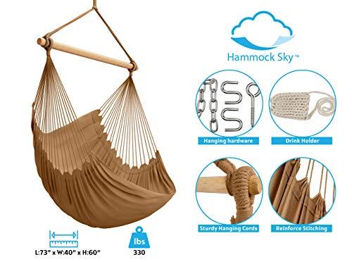 Hammock Sky XXL Hammock Chair, Iced Coffee