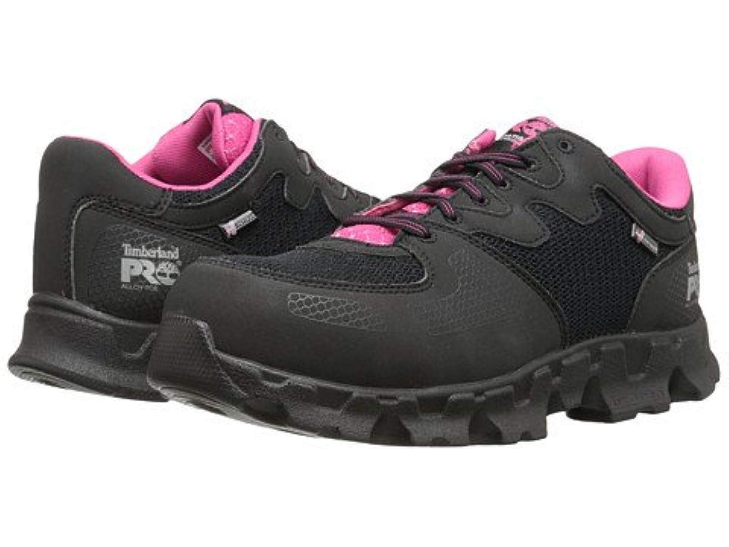十分です透過性センチメンタルレディースウォーキングシューズ?カジュアルスニーカー?靴 Powertrain Alloy Toe ESD Black/Pink 5.5 22.5cm B - Medium [並行輸入品]