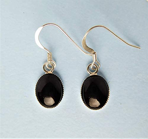 Whitby Jet and Silver Earrings