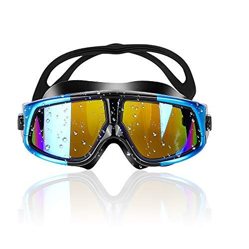 Zorara Schwimmbrillen für Erwachsene, Schwimmbrille mit Antibeschlag und UV Schutz, Unisex Training Freizeit Schwimmbrille, Anti-Fog Beschichtung Swimming Goggles für Männer Frauen (Blau)