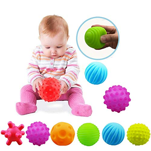 VintageⅢ Baby Infant Sensory Balls Structured Multi Ball Set Massage Soft Ball,6pcs
