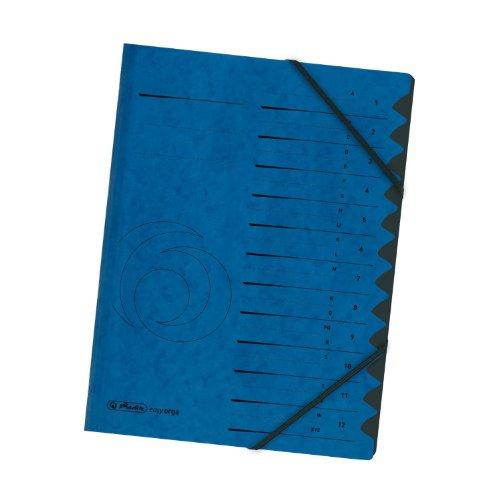 Herlitz 10843316 Ordnungsmappe Register 1-12 blau