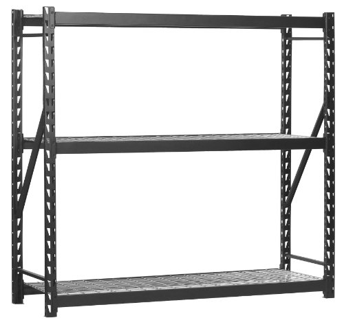 Sandusky Lee Muscle Rack ERZ772472WL3 Black Heavy Duty Steel Welded Storage Rack, 3 Shelves, 1,000 lb. Capacity per Shelf, 72