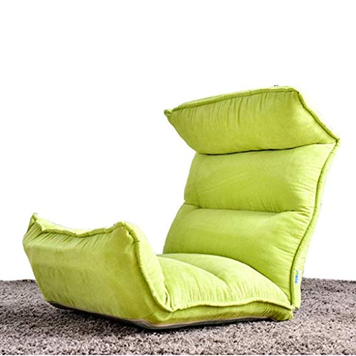 Unbekannt Liegestuhl Gartenliege Stuhl, 14-Gang-Gegenspann Stuhl Folding Faule Fashion Lounge Chair Rückenlehne 130 x 53 x 10 cm (Farbe, braun),Grün