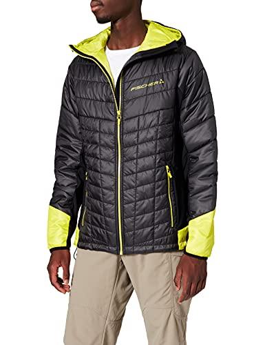Fischer Sports Primaloft Jacket-Ruka, Giacca Uomo, Nero/Giallo, L