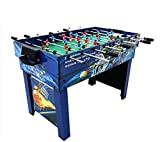 JCCOZ-URG Foosball Table, Combination Game Table Compact 4-in-1 Multi-Game Including Table Football/Billiards/Hockey/Table Tennis for Adult/Kids URG