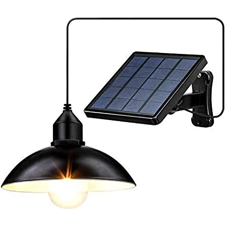 Lightess 分離型 ソーラーライト センサーライト ペンダントライト 玄関灯 自動点灯/消灯 IP65防水 電気代不要 IP65防水 太陽光発電 配線不要 取付簡単 屋外ウォールライト 玄関先/庭/駐車場等屋内外に適応(電球付属)