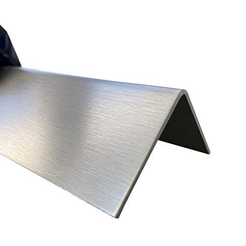 Edelstahl Kantenschutz 2000mm 50x50 mm K240 RIESEN AUSWAHL V2A 0,8mm stark Blechwinkel Kantenschutz,kreativ bauen 200cm Edelstahl L-Blech Schenkel 5x5cm