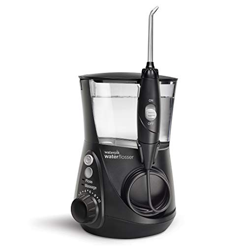 Waterpik Water Flosser Electric Dental Countertop Professional Oral Irrigator For Teeth, Aquarius WP-662 Black