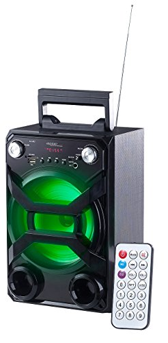 auvisio Party Anlage: Mobile Akku-Musikanlage, Bluetooth, Karaoke-Funktion, USB, SD, 30 Watt (Mobile Partyanlage)