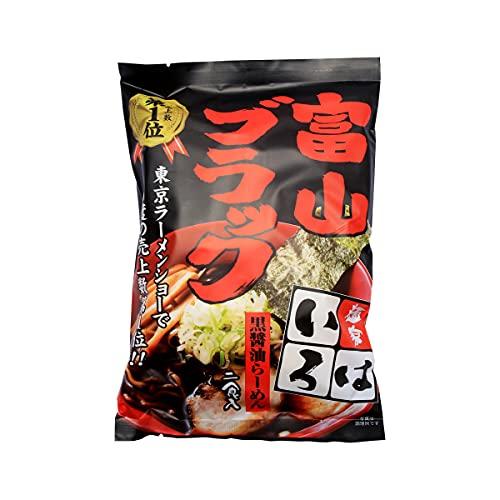 [麺家いろは] 生ラーメン 富山ブラック黒醤油らーめん 二食入/黒?油/富山ブラック
