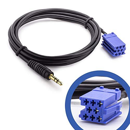 Adapter Universe Câble adaptateur auxiliaire pour voiture - Prise jack 3,5 mm - Compatible avec radios Audi VW Blaupunkt Becker