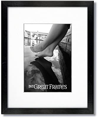 Amazoncom One 16x16 Square Black Wood Picture Frame And Clear