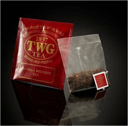 TWG Singapore - The Finest Teas of the World - VANILLA BOURBON Tee - Hauptteil 100 Seide Teebeutel