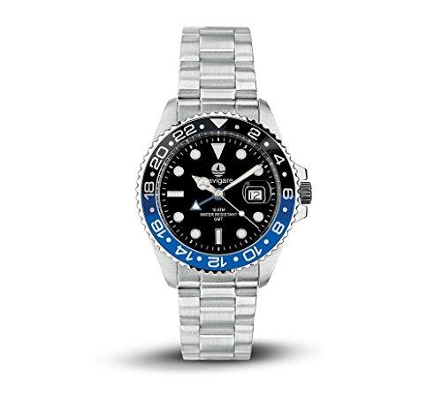 Horloge Navigare GMT zwart blauw model Rolex