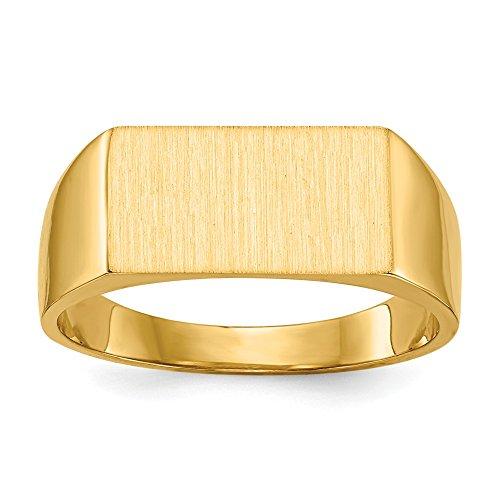 DIAMOND2DEAL INC Anillo de Oro Amarillo sólido de 14 Quilates para Hombre, tamaño 8