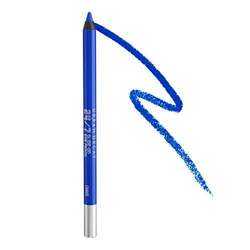 Urban Decay 24/7 Glide-On Eyeliner Pencil, Chaos - Vibrant Cobalt Blue with Slight Floating Pearl & Matte Finish - Award-Winning, Waterproof Eyeliner - Long-Lasting, Intense Color