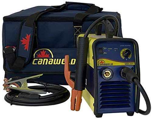 CANAWELD Arc Welding Stick Welder MMA 201 Made in Canada 200 Amp Stick Welder TIG Welder (LIFT) Weld up to electrode #4 IGBT Inverter Lightweight 220V(150 A @0 Duty Cycle) Generator Compatible